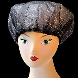 All Over Black Sparkles Shower Cap
