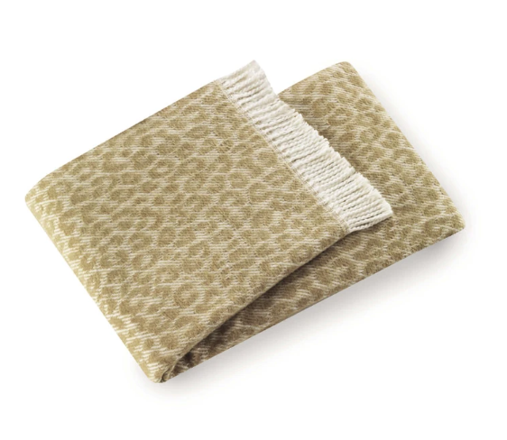 Leopard Throw Cream/ Stone
