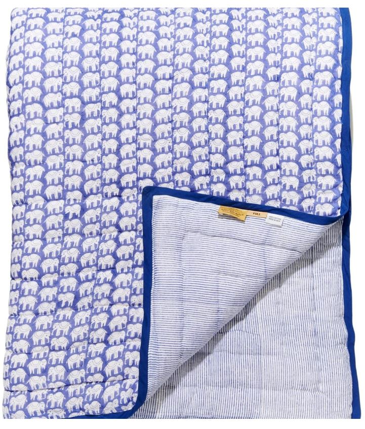 Baby Elephant Quilt Periwinkle