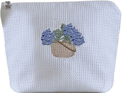 Waffle Hydrangea Basket Cosmetic Bags 50% OFF