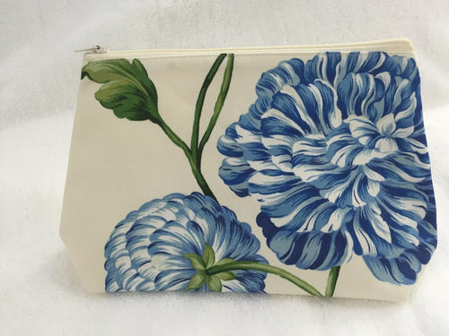 Charlotte Blue Cosmetic Bag