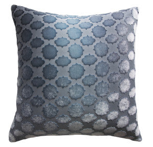 Mod Fretwork  Velvet Dusk Pillow