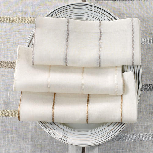 Metallic Thread Napkins
