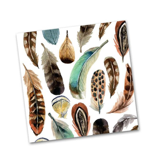 Aquarell Feather  Paper  Cocktail Napkins