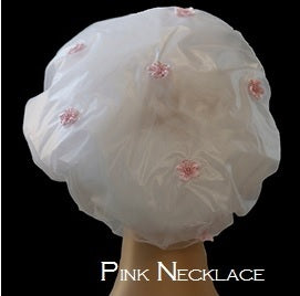 Pink Necklace Shower Cap