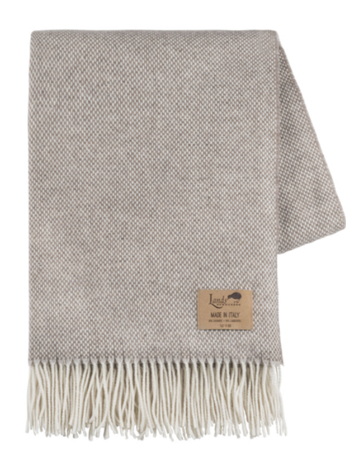 Taupe Juno Cashmere Throw