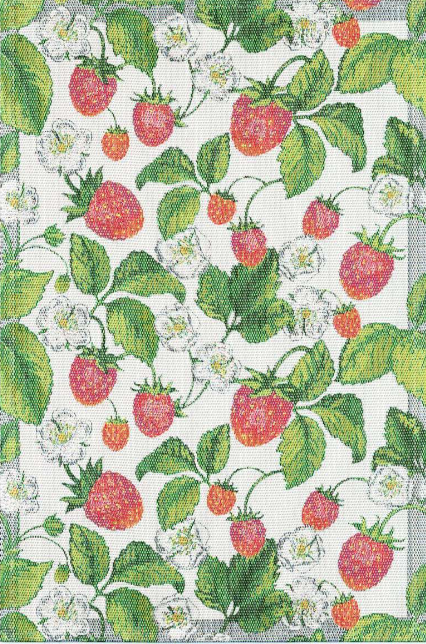 Garden Strawberry Tea Towel