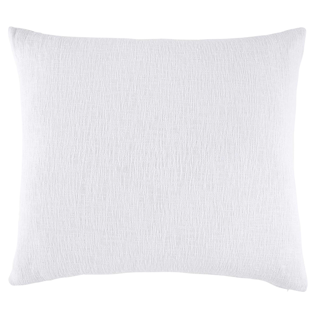 Woven White King Decorative Pillow