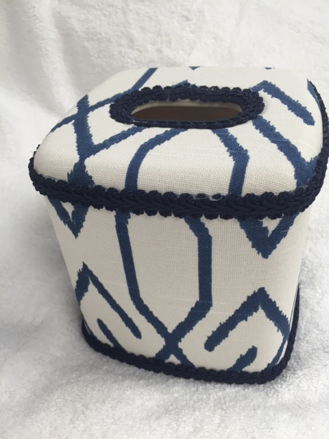 Aztec Navy Tissue Cover