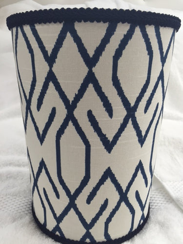 Aztec Navy Blue Wastebasket