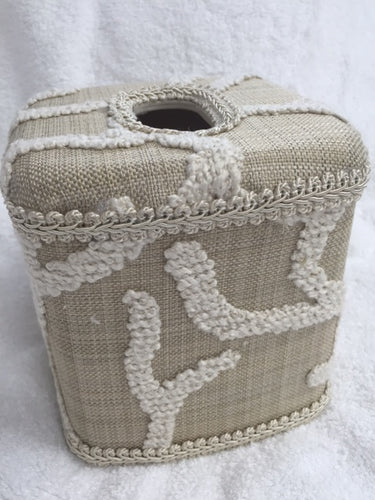 By the Sea Ivory Tissue Cover