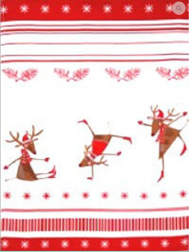 Dancing Reindeer Kitchen Towel -50% OFF