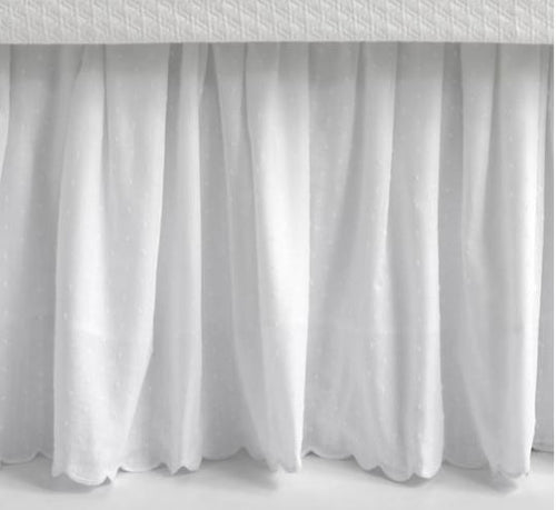Swiss Dot Embroidered Bed Skirts