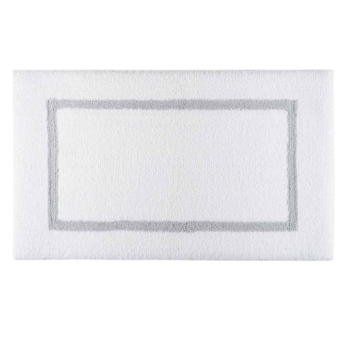 Double Tone Bath Mat in Silver