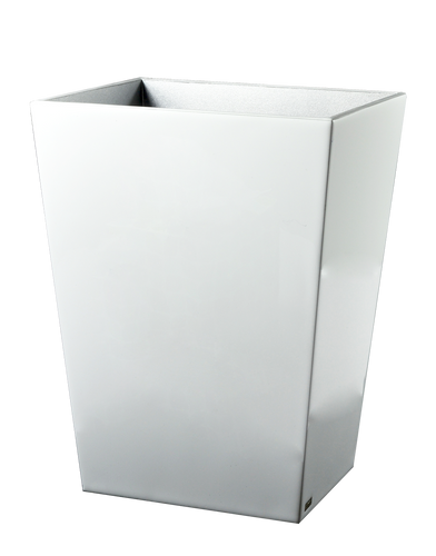 Essentials White Wastebasket