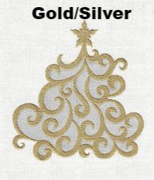 Crystal Tree Gold/Silver Guest Towel