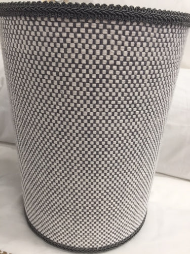 Gray Tweed Wastebasket