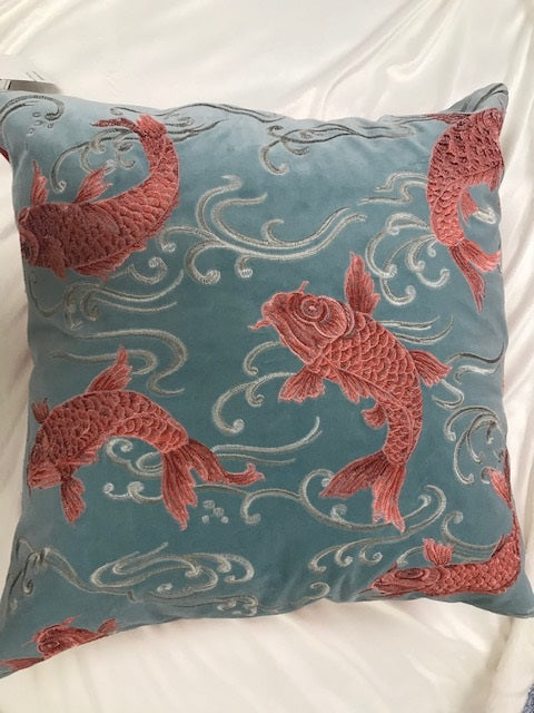 Koi Coral Decorative Pillow