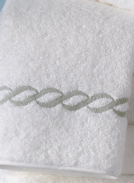 Classic Chain Guest Towel Silver