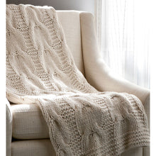 Micah Cable Knit Throw