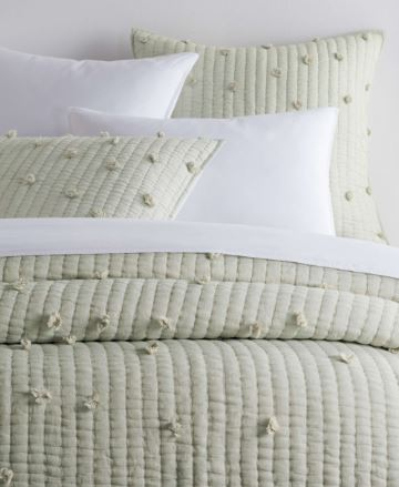 Pom Pom Moonstone Quilted Coverlet