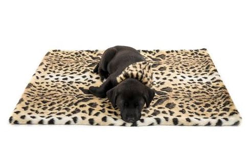 Pampered Pet Leopard Faux Fur Throw