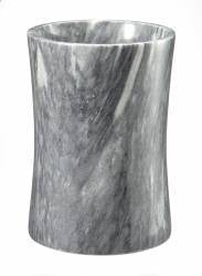 Cloud Gray Marble Wastebasket