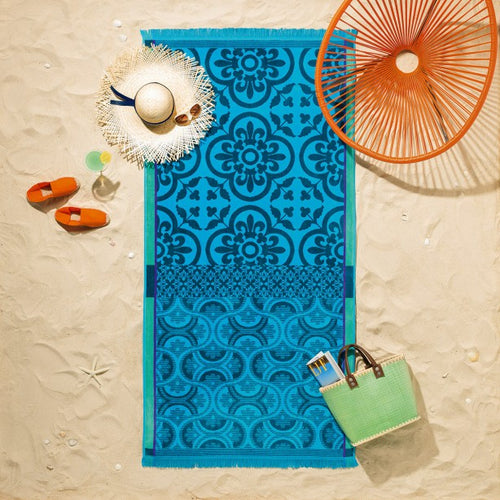 Santorin Beach towel