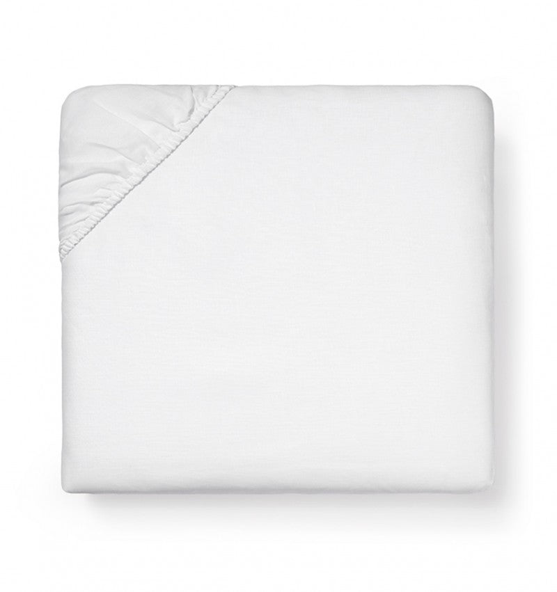 Classico White Linen Fitted Sheet