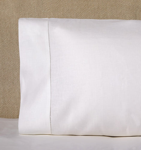 Classico White Linen Pillowcase