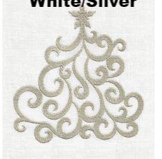 Crystal Tree White/Silver Guest Towel