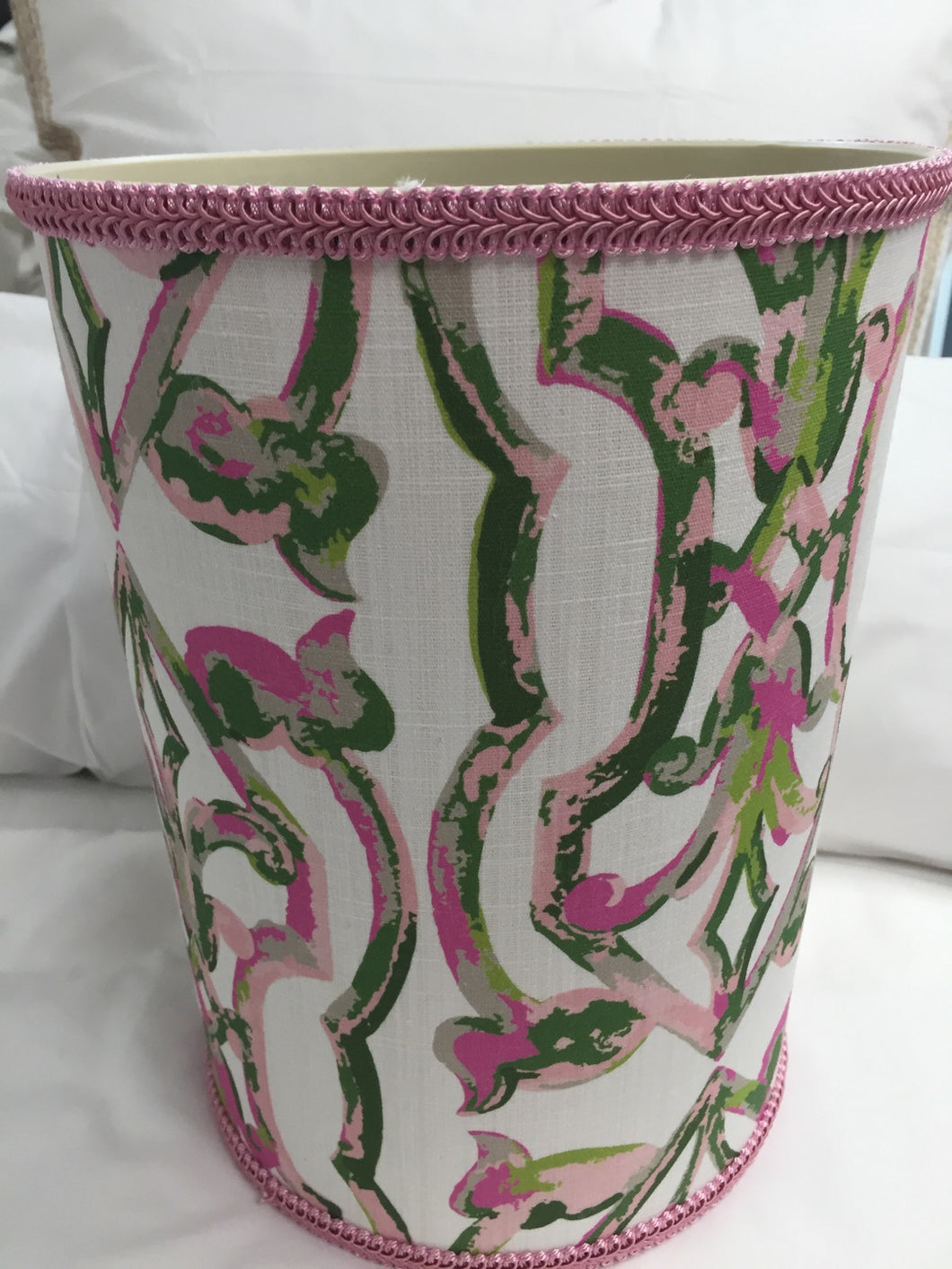 Tickled Pink Wastebasket