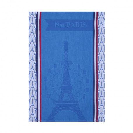 Mon Paris Blue Kitchen Towel