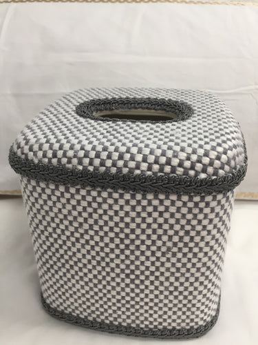 Gray Tweed Tissue Cover