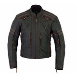 Mens Street Armored Matte Leather Black Motorcycle Jacket