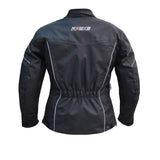 Motorcycle Womens Jacket, Textile Motorcycle Jacket, Womens full black Jacket