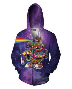 Activated Turtle Cap Zip-Up Hoodie