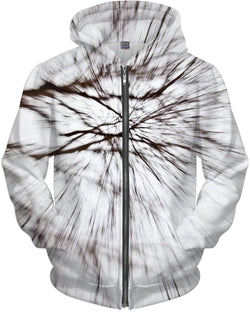 Abstract Snow Tree 1 Hoodie