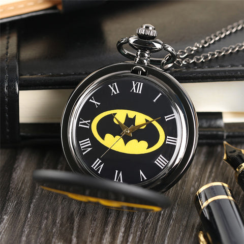 Batman Pocket Watch Necklace