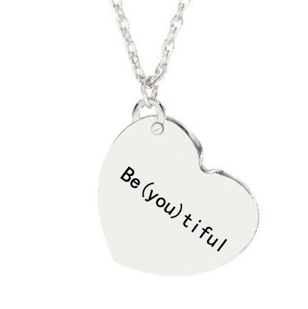 Be(you)tiful Quote Necklace