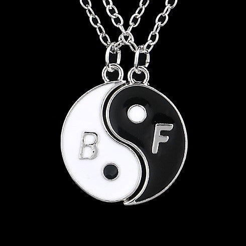 Yin And Yang Best Friends Two Piece Necklace Set