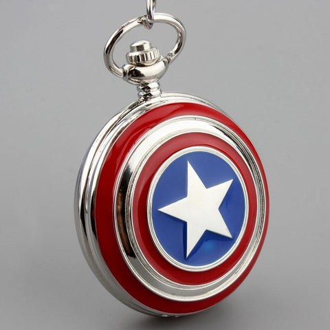 Captain America Pocket Watch Necklace