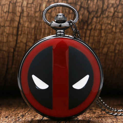 Deadpool Pocket Watch Necklace