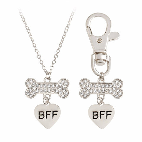 BFF Puppy Love Necklace and Collar Set