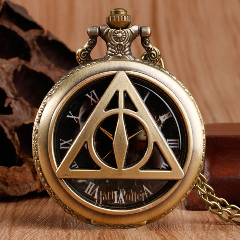 Harry Potter Deathly Hallows Pocket Watch Necklace