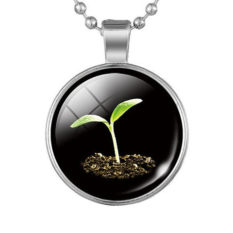 Time For Growth New Seed Pendant Necklace