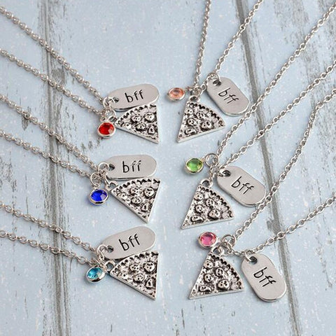 Six Part Squad Pizza Bestie Necklaces