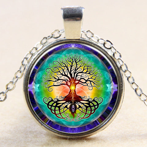 Tree Of Life Eye Of Knowledge Pendant Necklace