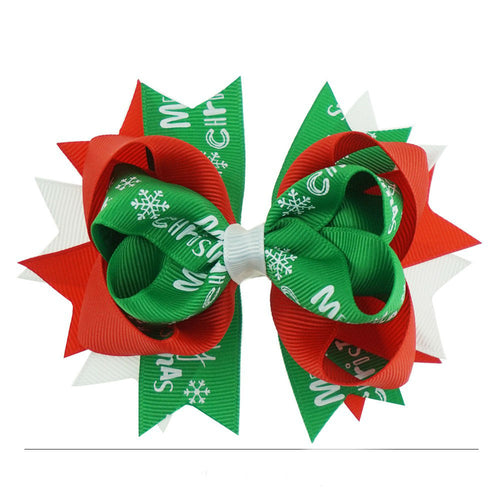 CHRISTMAS BOW CLIPS GREEN