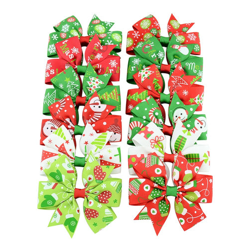 CHRISTMAS HAIR CLIPS (BUTTERFLY STYLE)- PACK OF 2
